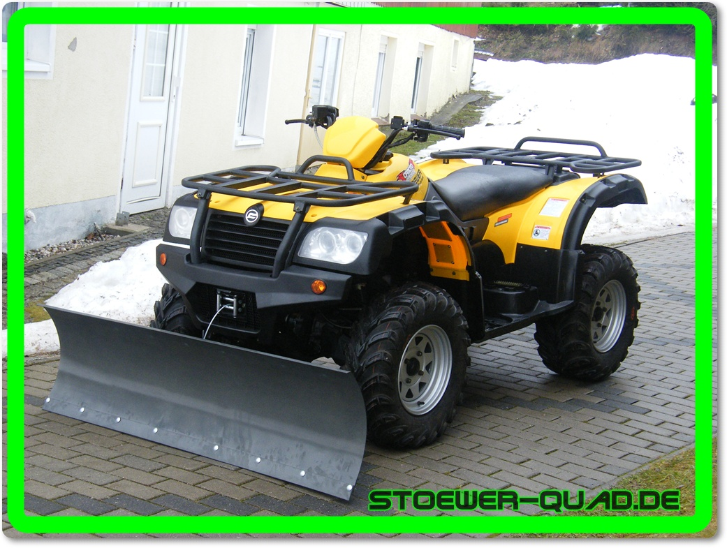 quad atv 500 er atlas 4x4 cf moto mit schneepflug m gl ebay. Black Bedroom Furniture Sets. Home Design Ideas